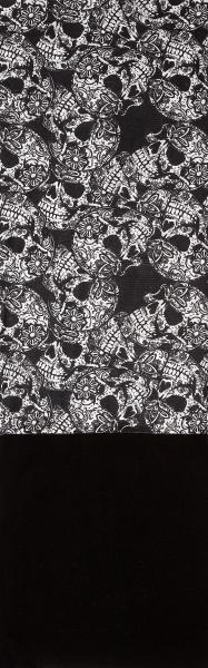 PiWear® Schlauchschal Skulls Black/White Fleece
