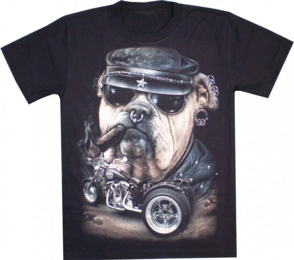T-Shirt Erwachsene - Bulldogge Trike - Glow