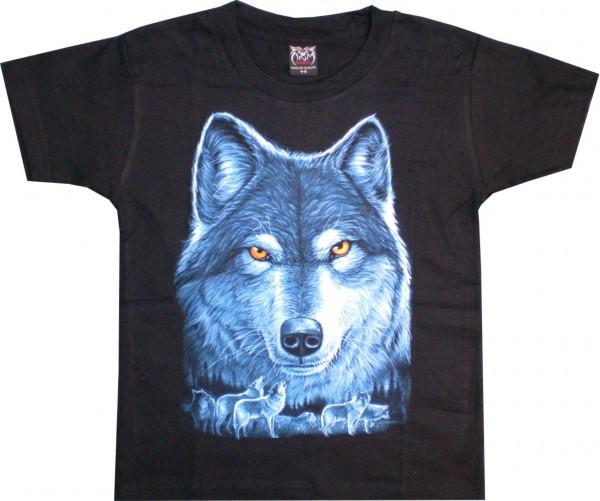 T-Shirt Kids - Wolf Blau