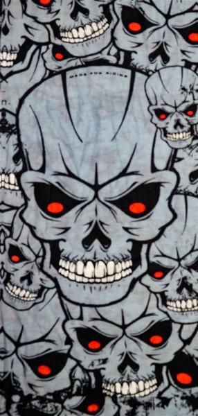 PiWear® Schlauchschal Skulls Grey