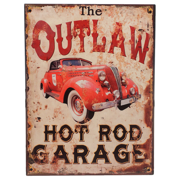 PiWear® Blechschild The Outlaw Hot Rod Garage