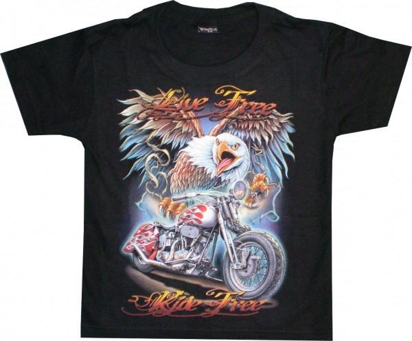 T-Shirt Kids - Live free ride free