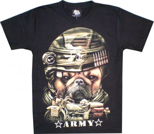 T-Shirt Erwachsene - Army Hund - Glow
