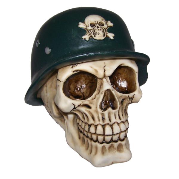 PiWear® Skull German Helmet Totenkopf Stahlhelm Helm