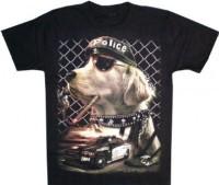 T-Shirt Erwachsene - Polizei Hund Glow