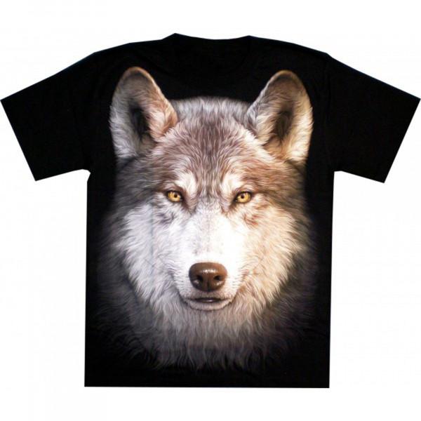 T-Shirt Erwachsene - Wolfskopf - Glow