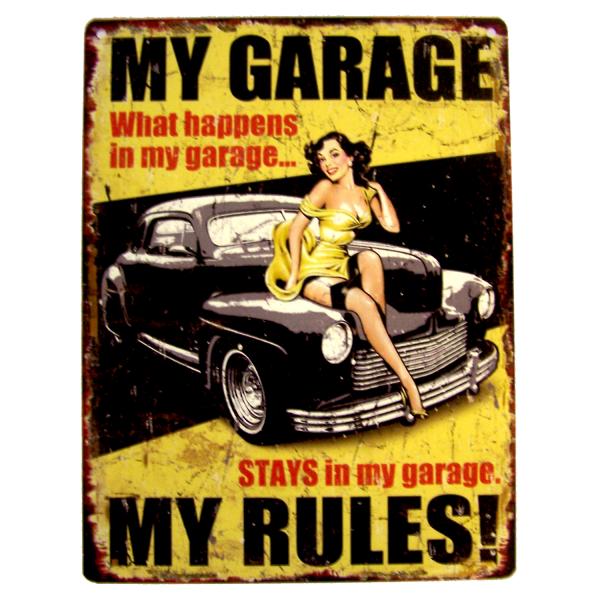 PiWear Blechschild My Garage-My Rules