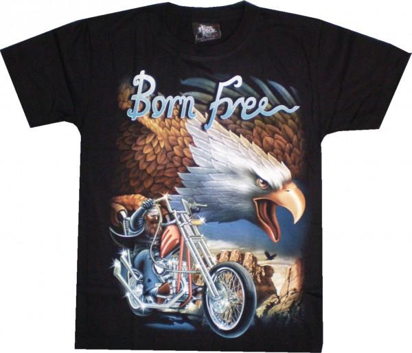 T-Shirt Erwachsene - Born Free Adler mit Biker
