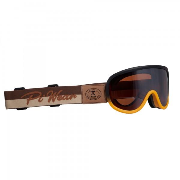 PiWear® Arizona Rahmen schwarz orange Band braun DRM