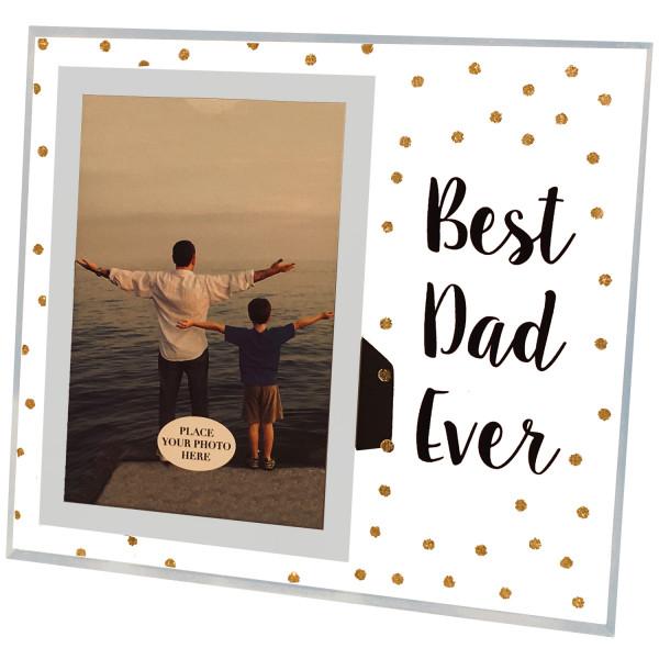 PiWear® Bilderrahmen Glas - Best Dad Ever