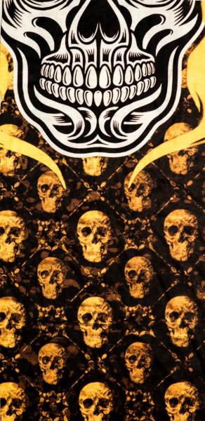 PiWear® Schlauchschal Skulls Yellow