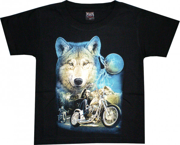 T-Shirt Kids - Wulf with Motorbike
