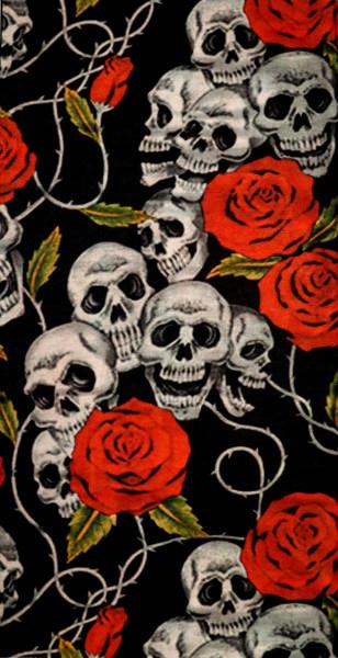 PiWear® Schlauchschal Skulls & Roses