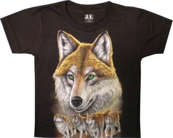 T-Shirt Kids - Wulfhead with puppies