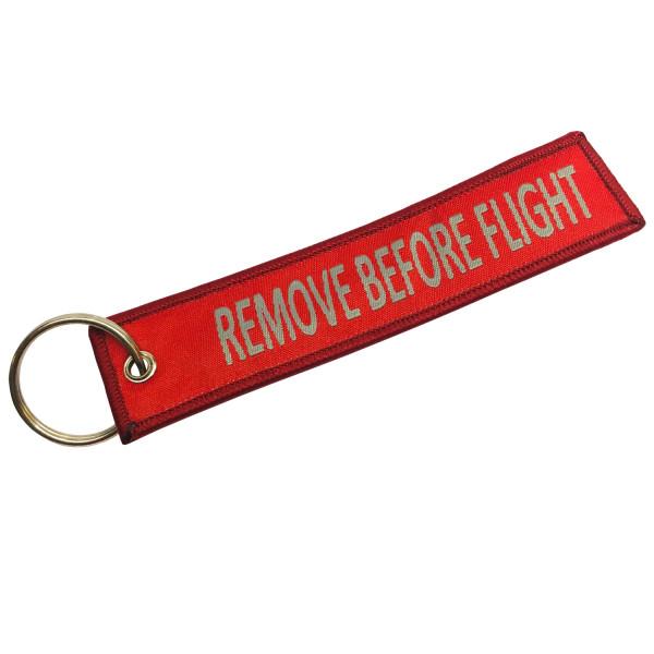 PiWear® Schlüsselanhänger - Remove Before Flight - Rot