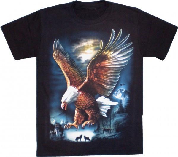 T-Shirt Kids - Landender Adler im Mondschein