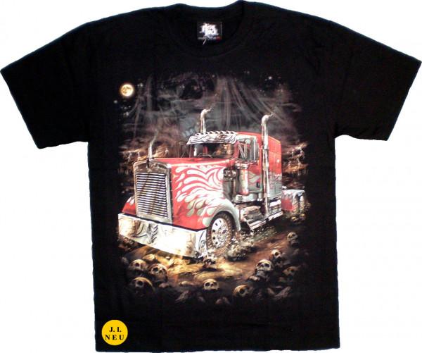 T-Shirt Erwachsene - roter Truck - Glow