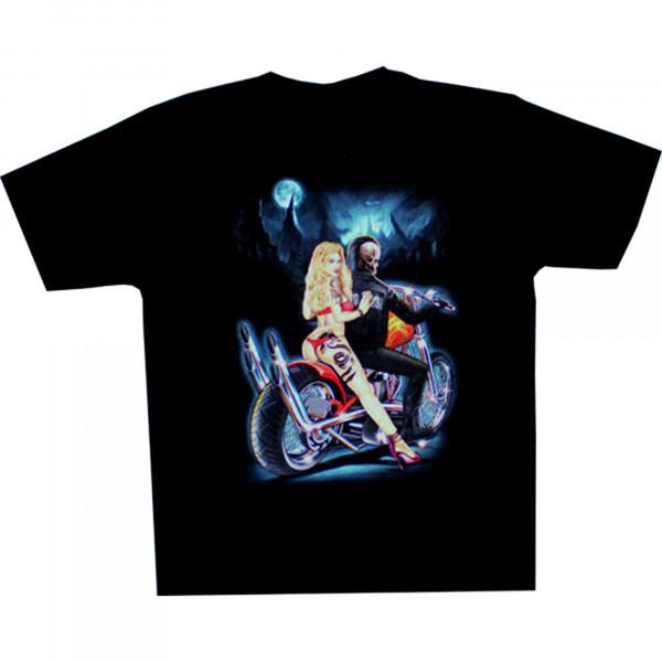 T-Shirt Erwachsene - Skelett auf Bike
