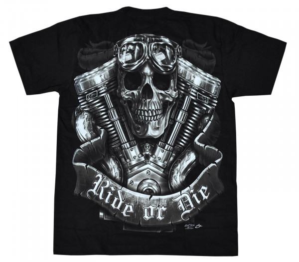 T-Shirt Erwachsene - Ride or die