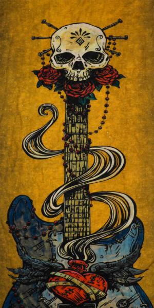 PiWear Tube Skull Guitar
