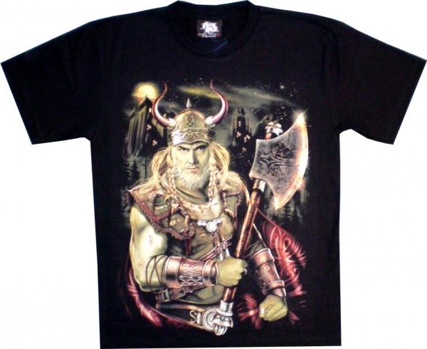 T-Shirt Erwachsene - Wikinger mit Axt - Glow